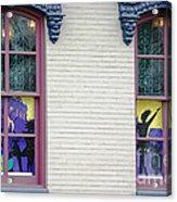 Mardi Gras Windows Acrylic Print