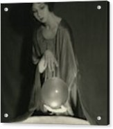 Margaret Severn With An Orb Acrylic Print