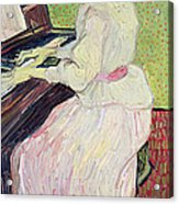 Marguerite Gachet At The Piano Acrylic Print
