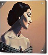 Maria Callas Painting Acrylic Print