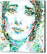 Maria Callas - Watercolor Portrait.1 Acrylic Print