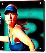 Maria Sharapova Tennis Acrylic Print by Lanjee Chee