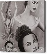 Maria Tallchief Acrylic Print by Amber Stanford