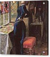 Mariana Acrylic Print by John Everett Millais