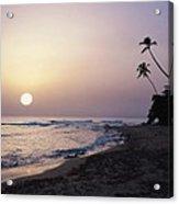 Marias Beach Sunset Rincon Puerto Rico Acrylic Print by George Oze