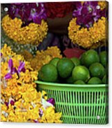 Marigolds And Limes Acrylic Print