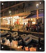 Marigot Marina At Night Acrylic Print