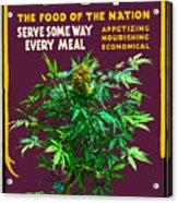 Marijuana Poster Acrylic Print
