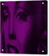 Marilyn And Mona Purple Acrylic Print