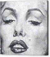 Marilyn Closeup Acrylic Print