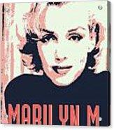 Marilyn M Acrylic Print