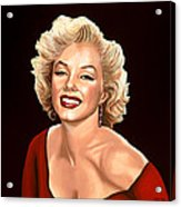Marilyn Monroe 3 Acrylic Print by Paul Meijering