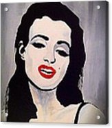 Marilyn Monroe Aka Norma Jean Artistic Impression Acrylic Print