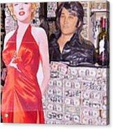 Marilyn Monroe And Elvis Acrylic Print