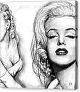 Marilyn Monroe Art Long Drawing Sketch Poster Acrylic Print by Kim Wang