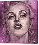 Marilyn Monroe In Pink Acrylic Print