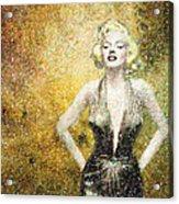 Marilyn Monroe In Points Acrylic Print