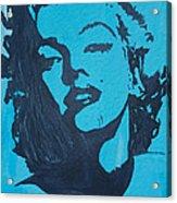 Marilyn Monroe Loves Batman Acrylic Print