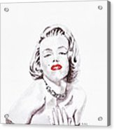 Marilyn Monroe Acrylic Print by Martin Howard