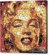 Marilyn Monroe On The Way Of Arcimboldo Acrylic Print