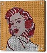 Marilyn Monroe Orange Acrylic Print