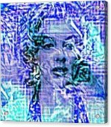 Marilyn Monroe Out Of The Blue Acrylic Print