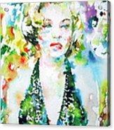 Marilyn Monroe Portrait.1 Acrylic Print