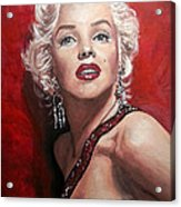 Marilyn Monroe - Red Acrylic Print