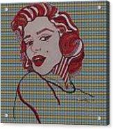 Marilyn Monroe Tartan Acrylic Print