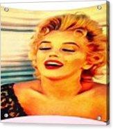 Marilyn Monroe Tribute Silked Curves Acrylic Print