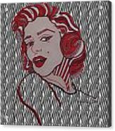 Marilyn Monroe Zebra Acrylic Print