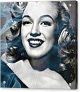 Marilyn On Fire Acrylic Print by Jo Ann