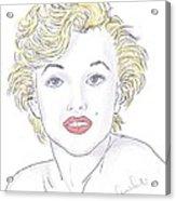 Marilyn Acrylic Print by Steven White