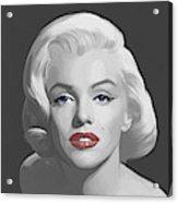 Marilyn Trio Red Lips Blue Eyes Acrylic Print