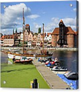 Marina And Old Town Of Gdansk Skyline Acrylic Print