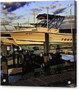 Marina At Dawn Acrylic Print