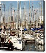 Marina At Port Vell Barcelona Acrylic Print