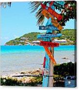 Marina Cay Sign Acrylic Print