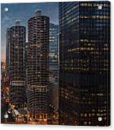 Marina City And A M A Plaza Chicago Acrylic Print