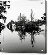 Marina Drive Canal Acrylic Print