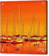 Marina Reflections Acrylic Print