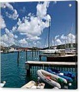 Marina St Thomas Virgin Islands Acrylic Print by Amy Cicconi