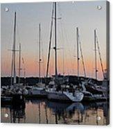 Marina Sunset Afterglow Acrylic Print