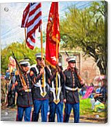 Marine Color Guard - Paint Acrylic Print