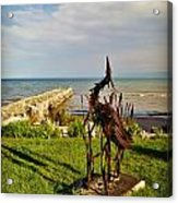 Marineres Trail Between Manitowoc And Two Rivers Wi Acrylic Print
