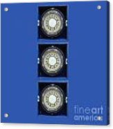 Mariners Compass Blue Acrylic Print