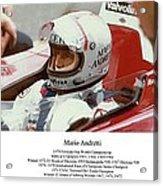 Mario Andretti Acrylic Print