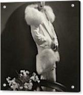 Marion Morehouse Wearing An Augustabernard Jacket Acrylic Print
