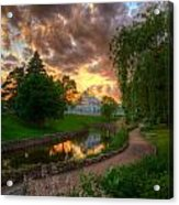 Marjorie Mcneely Conservatory Reflections Acrylic Print