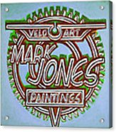 Mark Jones Velo Art Painting Blue Acrylic Print by Mark Howard Jones